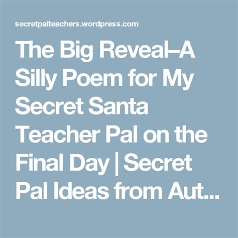 secret pal poems the world s catalog of ideas