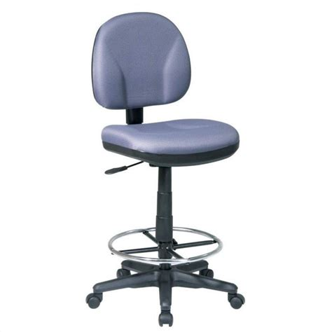 drafting chair with stool kit in grey dc630 226