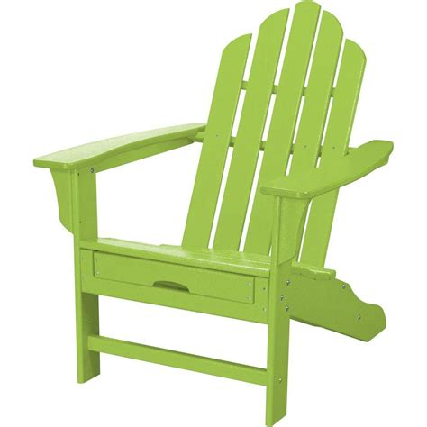 lime green chair and ottoman hanover all weather patio adirondack chair with hide away