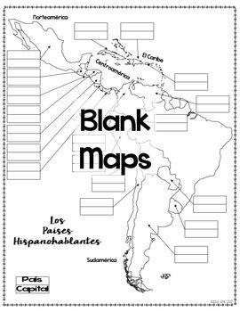 printable world map in spanish spanish speaking countries maps and quizzes spanish