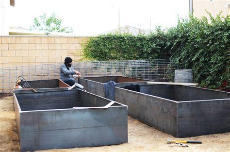 steel garden cor ten steel garden beds cakies