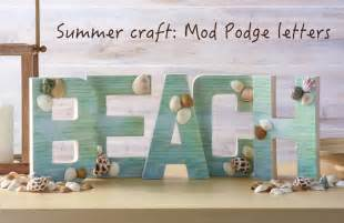 Beach Decor Bedroom Ideas easy beach craft diy letters mod podge rocks