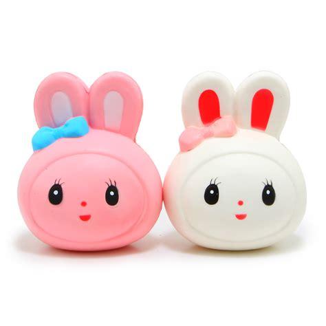 Rabbit Bun Squishy random rising kawaii pink or white rabbit squishy and squishy