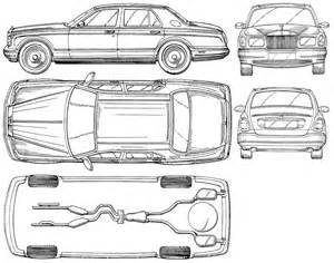 Rolls Royce Drawing Rolls Royce Car Blueprints Die Autozeichnungen Les