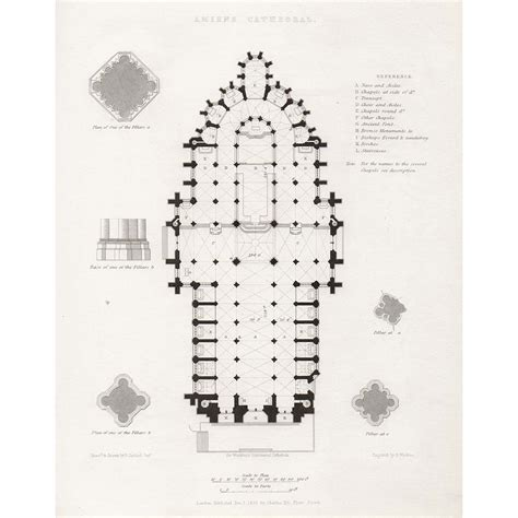 amiens cathedral floor plan amiens cathedral plan britton images