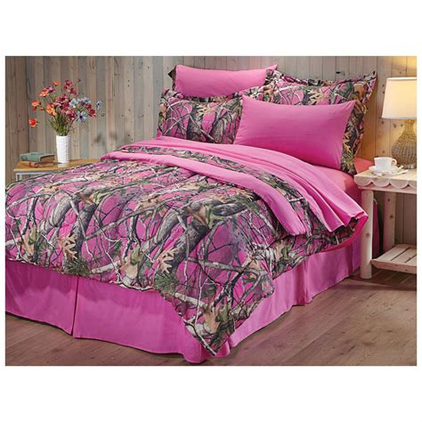 pink bed set castlecreek next vista pink camo complete bed set 609062