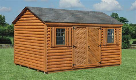 log style sheds custom amish log cabin sheds delaware