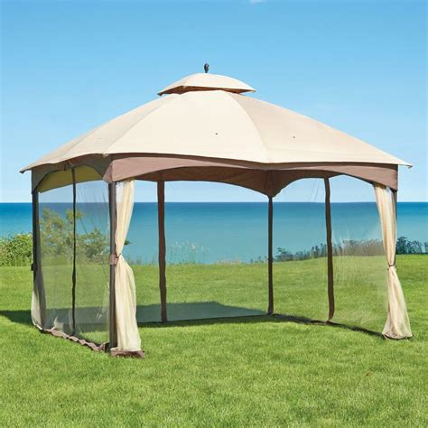 gazebo tent rugged outdoor 10 x 12 roof gazebo tent w steel