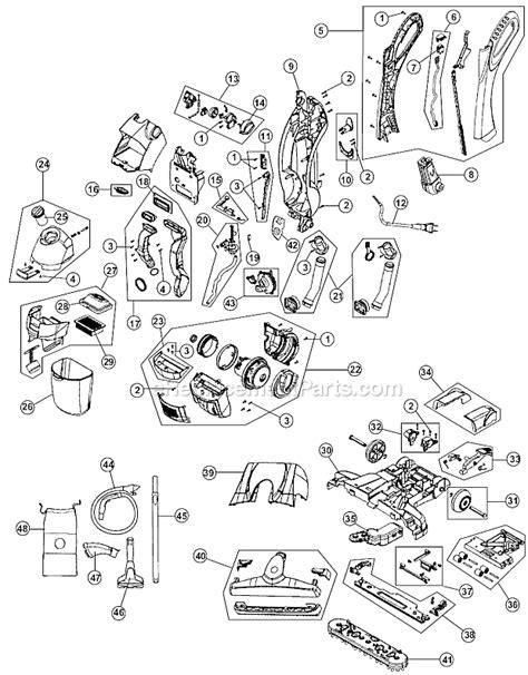 hoover carpet cleaner parts diagram hoover fh40010 parts list and diagram ereplacementparts