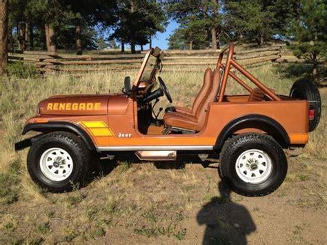 brown jeep cj7 renegade find used 1983 jeep cj7 renegade original 62k 6cyl 4spd