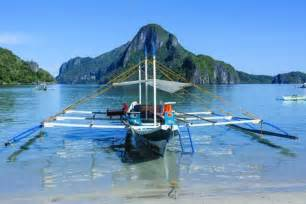 Wood Wall Murals the bay of el nido with outrigger boats bacuit