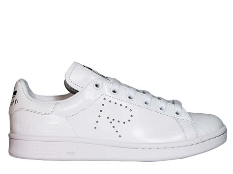 adidas by raf simons adidas by raf simons white stan smith low sneakers white s