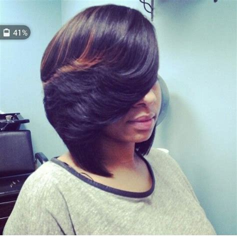 Freather Black Bob | feathered bob hairstyles pinterest feathered bob