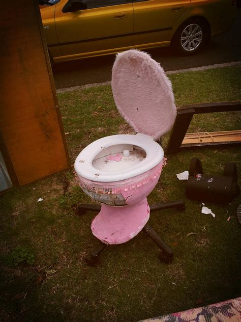 Toilet Desk Chair by P Confusa On Quot Office Chair Fluffy Pink Toilet
