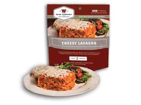 wise food outdoor cheesy lasagna freeze dried food 6oz
