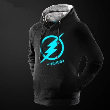 Hoodie Flash Wisata Fashion Shop the flash fleece hoodies glow in the black blue
