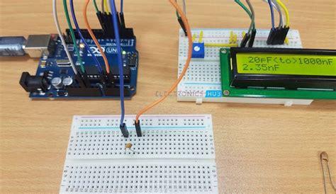 arduino capasitor meter arduino capacitance meter