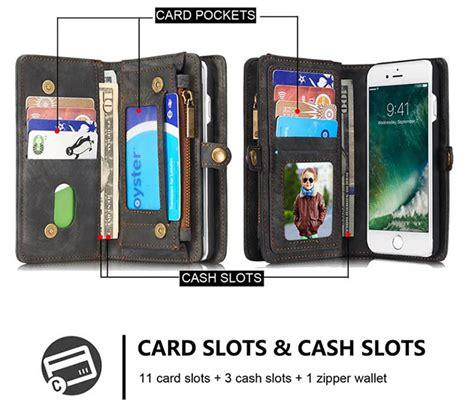 caseme iphone  zipper wallet detachable    folio case black