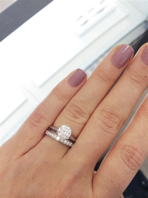 plain solitaire engagement ring with channel set wedding