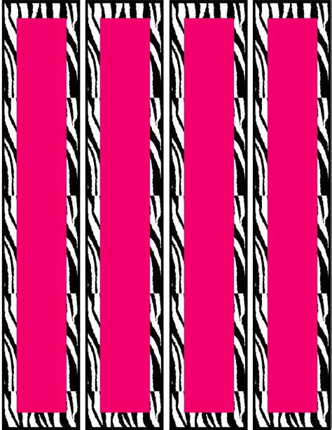 Glitter Lambs: Pink Zebra Food Label Cards And Free ...