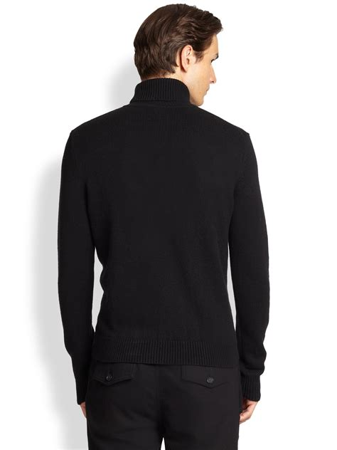 Michael Sweater Black Limited 1 michael kors turtleneck sweater in black for lyst