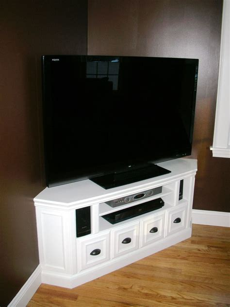 building a corner tv cabinet 20 best diy corner tv stands images on pinterest corner