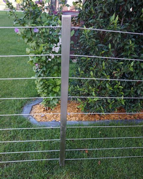 len für die terrasse edelstahl zaun idee