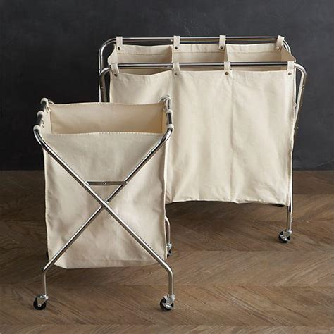 Canvas Her And Three Section Sorter In Laundry Crate Three Laundry