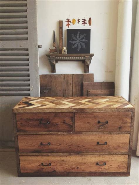 rustic dresser made from pallets pallet furniture diy