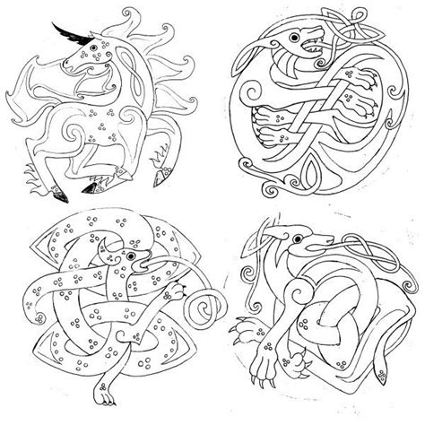 celtic tattoo animal meanings celtic animals sca historic finds pinterest
