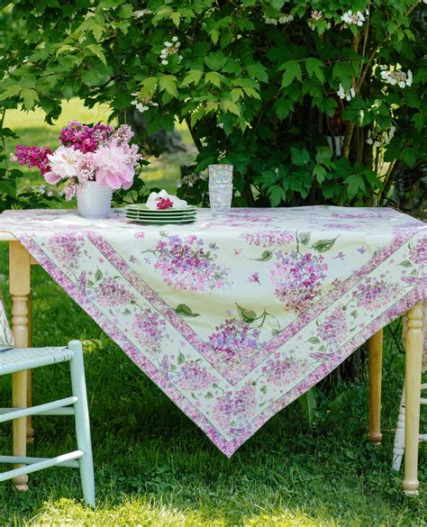 lilac tablecloth linens kitchen tablecloths