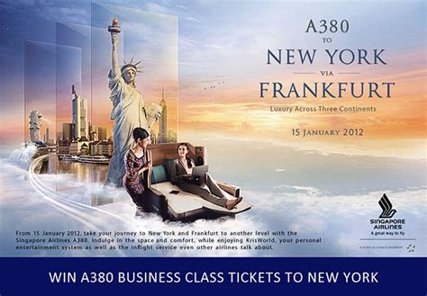 win  pair sia airbus  business class    york great deals singapore