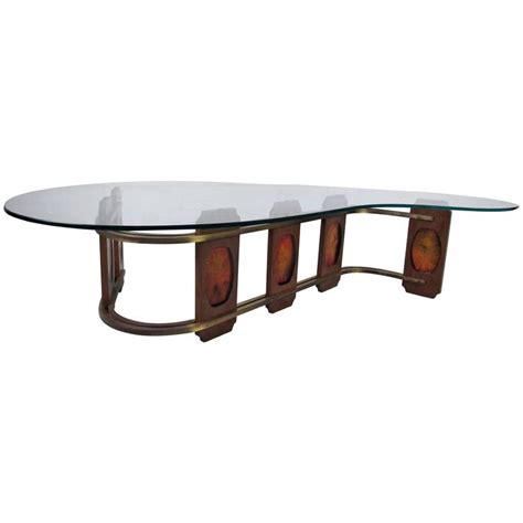Sculptural vintage kidney shaped coffee table for sale at 1stdibs