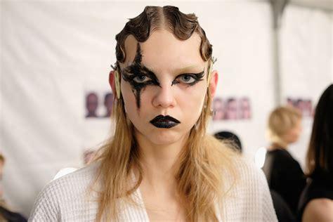 Makeup Marc backstage at marc fall winter 2016 new york crash