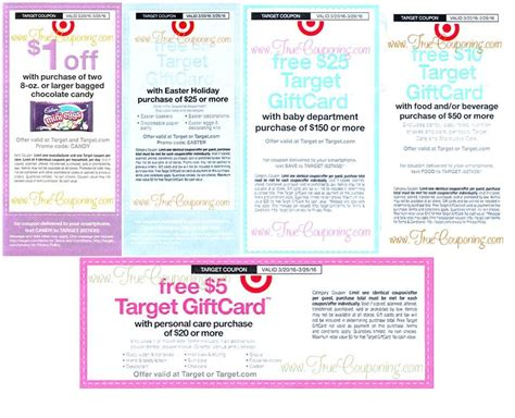 Target 20 Gift Card Coupon - reminder saturday is the last day to use the five target coupons on candy easter
