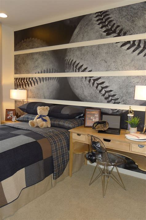 sports home decor bedroom sports decorating ideas baseball wallpaper