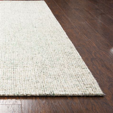 10 X 14 Solid Area Rugs - brindleton solid canvas pattern area rug in green ivory