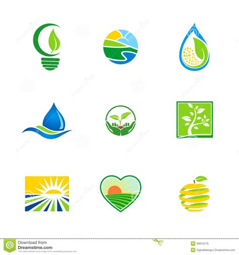 design for environment companies bio logos d 233 cologie d environnement abstrait de ferme