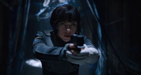 Scarlett Johansson Anime Movie Ghost In The Shell Clips Scarlett Johansson As The Major