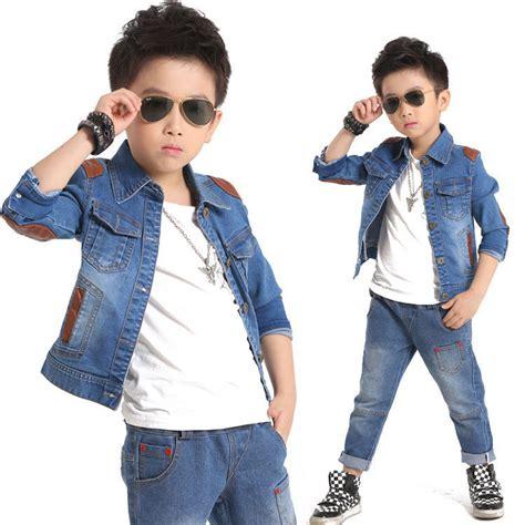 Boyset Minijeans 2016 brand new denim set for boys fashion children denim jacket streetwear