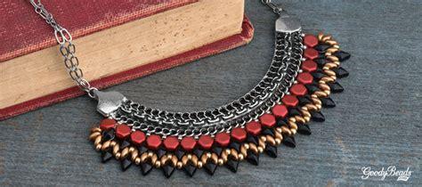 tribal pattern tutorial pattern tutorial tribal inspired bib necklace