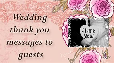 Wedding Message To Guests by Wedding Thank You Messages To Guests