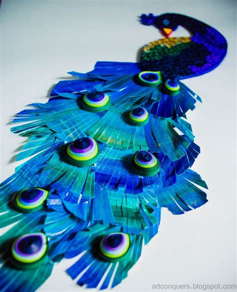 paper quilling peacock feather tutorial art conquers quilling art peacock