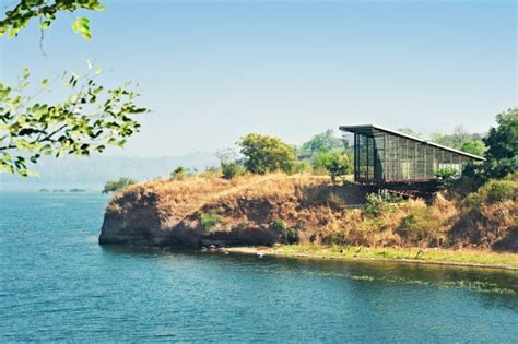 house over water over water glass house by design workshop