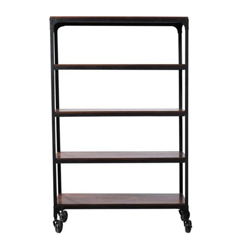 Black Metal Shelf Unit by Metal Shelf Unit On Castors In Black W 125cm Industry