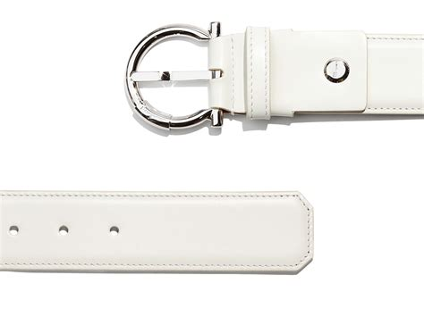 Ferragamo White lyst ferragamo adjustable belt in white for