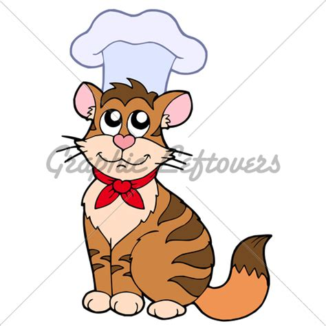 Kitchen Collection Llc by Cartoon Cat Chef 183 Gl Stock Images