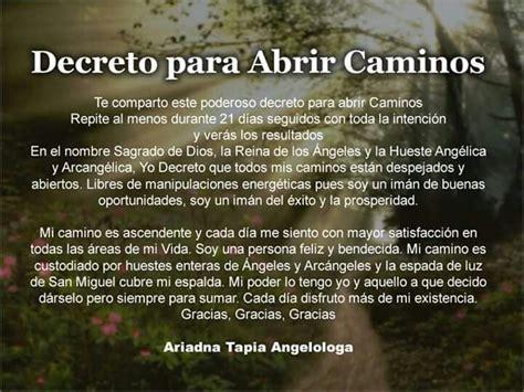 Decreto Para Abrir Caminos Abundancia Amor Y Plenitud | 17 best images about angeles on pinterest english san