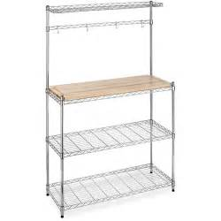 Walmart Bakers Rack Whitmor Supreme Microwave Baker S Rack Brown And Silver