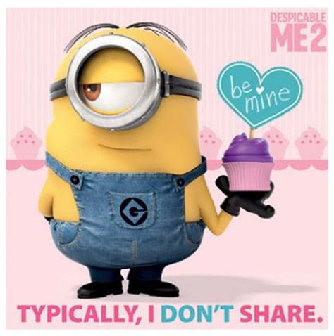 despicable me valentines papoy demam minion despicable me 2 a small world